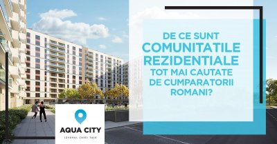 Why are residential communities increasingly sought after by Romanian buyers?