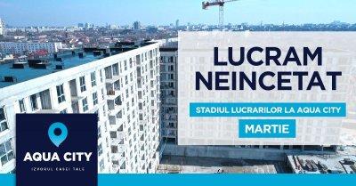 Stadiul lucrarilor la Aqua City – Martie 2021: un bloc aproape terminat, un bloc inceput