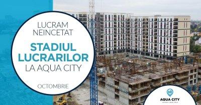 Stadiul lucrarilor la Aqua City - Octombrie 2021: cum arata o vizita virtuala pe santier