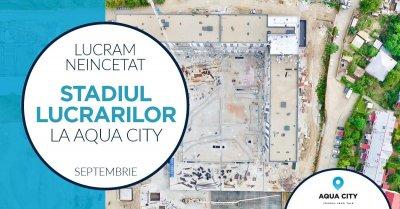Stadiul lucrarilor la Aqua City - Septembrie 2021: din nou la parter