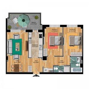 Apartament cu 3 camere Pipera - Stadion - COMISION 0