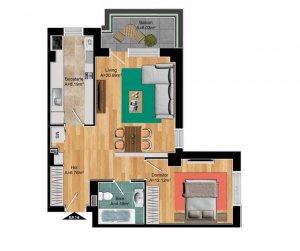 Comision 0- Apartament 2 camere - Imobil boutique - Pipera - Finalizat