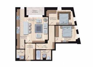 Apartament 3 Camere Universitate - Batiste Bloc Nou 2018 Garaj Subteran