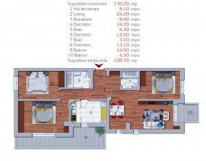 Baneasa - Sisesti - ap 4 camere 130 mpc - 2020 - COMISION 0