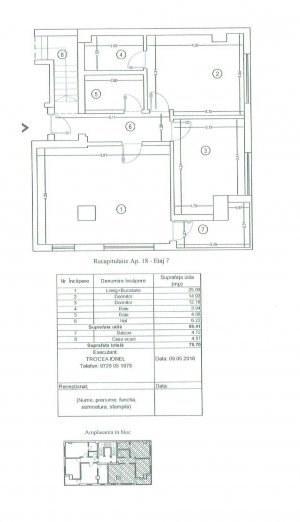 Apartament duplex 3 camere - Imobil nou - 87 mp utili - 158 mp terasa