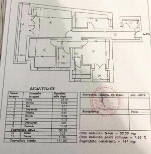Apartament 3 camere - 3 bai - 111mp - imobil 2019