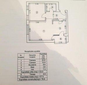 Apartament 2 camere 57mp - cu parcare - CLOUD 9 - Aviatiei - Pipera