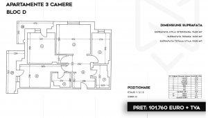 Pipera - Stefanesti - ansamblu rezidential 2020 - apartament 3 camere