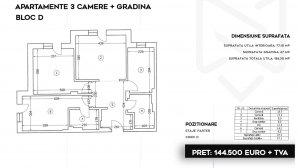 3 camere cu gradina 163 mp in ansamblu rezidential - Pipera - Stefanesti