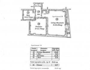 Apartament 2  camere -  55 mp totali utili -2015 - Delea Noua 24