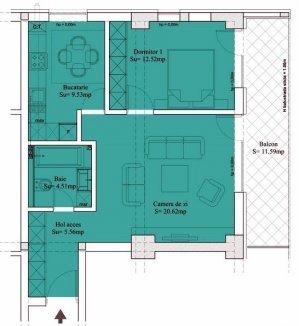 Apartament 2 camere - 64,60mp - Sebastian - Prosper - 13 Septembrie