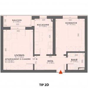2 camere - mobilat/utilat - Exigent Plaza Lujerului Militari