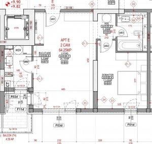 2 camere mobilat + parcare Citta Residence - Mega Mall Pantelimon
