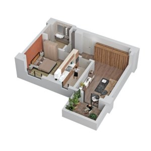 Apartament 2 camere - 54,5mp- Trafic Greu - Liberty Mall- COMISION 0