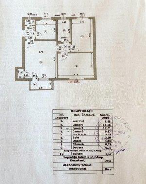 Apartament 3 camere - 55mp - Floreasca - George Calinescu 52