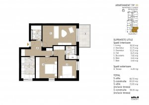 Calea Mosilor - Pasaj Obor - apartament 3 camere 2021 - comision 0