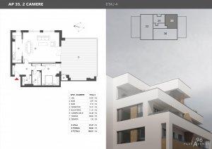 Nordului 96 - Herastrau - Penthouse 2 camere 146.88 mp  - 2021 - Comision 0