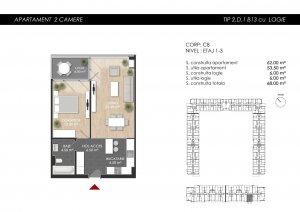 Apartament nou 2 camere -Ansamblu Atria Urban Resort- Chitila- Straulesti Lac