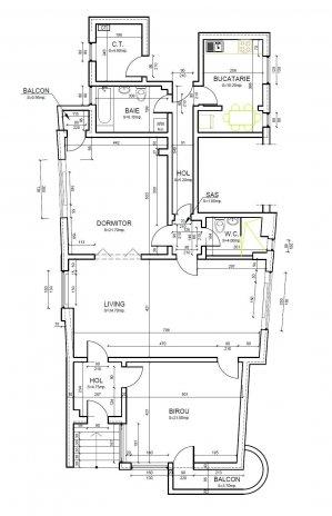 Spatiu Birouri 122 mp - 3 camere - Romana - ASE - parter - renovat 2021