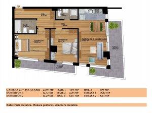 3 camere 90 mpu - imobil 2021 - Calea Vitan 271 - COMISION 0