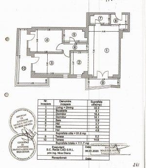 Apartament 3 camere cu parcare subterana - 108mp, Grand Residence
