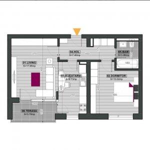Apartament 2 camere Pipera-Cloud 9-Loc parcare subteran