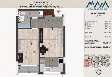 Maia Slatina 2 | Apartament in bloc nou Tip 9A