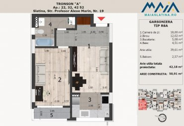 Maia Slatina 2 | Apartament in bloc nou Tip R8A