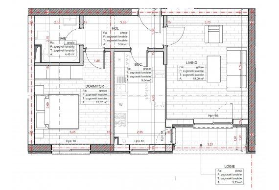 Apartament 2 Camere - C2.3.1A