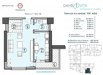 Apartament 4 Camere - DA03 Scara 1