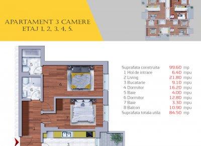 Apartament 3 Camere - 3A