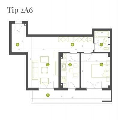 Apartament 2 Camere - 2A6