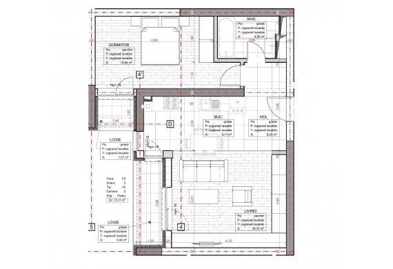 Apartament 2 Camere - C2.7A