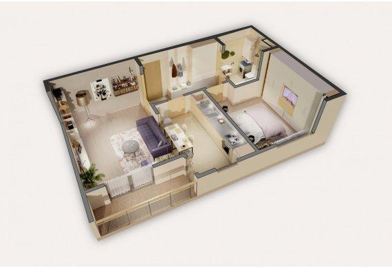 Apartament 2 Camere - 2A3