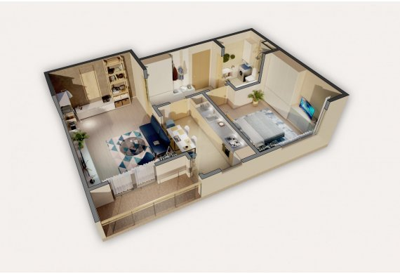 2 Camere Apartment - 5.2A