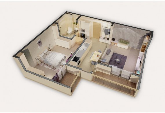 Apartament Studio - 2C