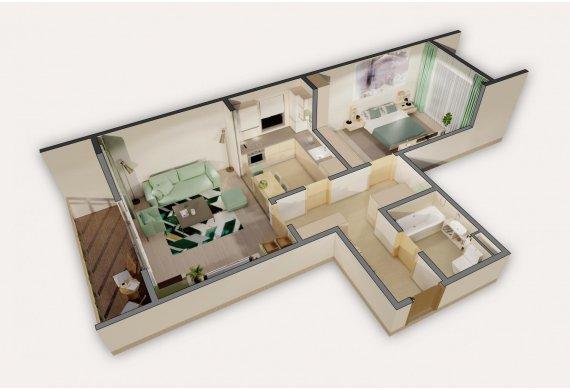 Apartament 2 Camere - 6A