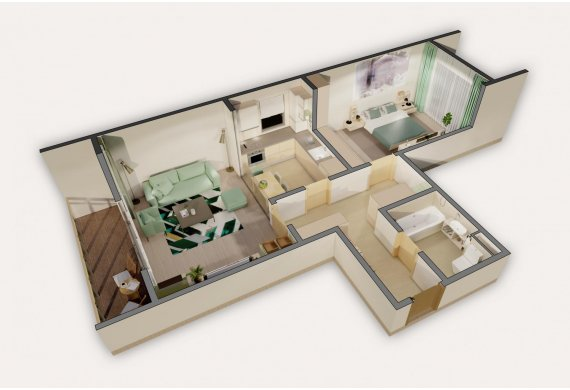 2 Camere Apartment - 6A