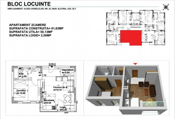 Apartament 2 Camere - 2CTIP2