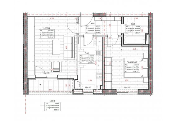 Apartament 2 Camere - C2.3.3B