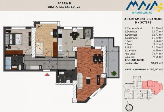 Apartament 3 Camere - B-3CTIP1