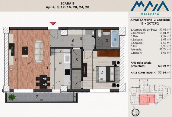 Apartament 2 Camere - B-2CTIP2
