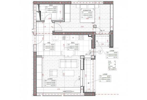 Apartament 2 Camere - C2.7B