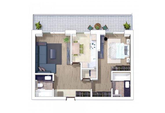 Apartament 2 Camere - 2B
