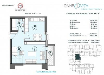 Apartament 4 Camere - DB13 Scara 2