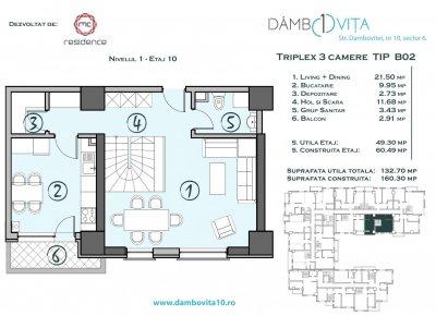 Apartament 4 Camere - DB02 Scara 2