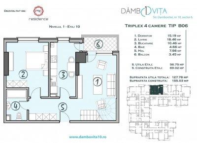 Apartament 4 Camere - DB06 Scara 2