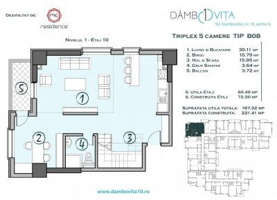 Apartament 5 Camere - DB08 Scara 2