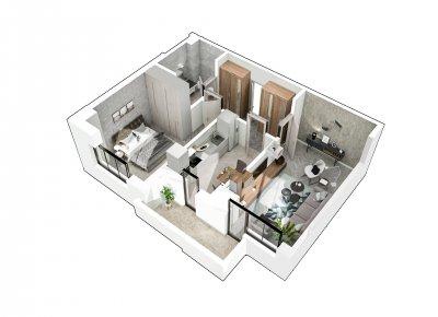 Apartament 2 Camere - 2D Scara 2