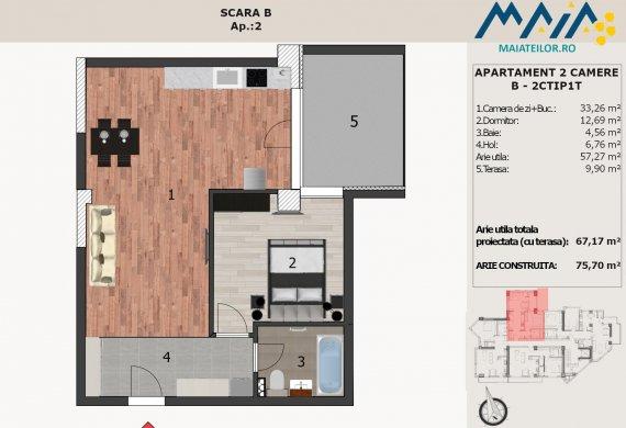 Apartament 2 Camere - B-2CTIP1T